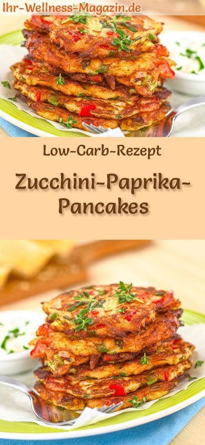 Photo of Low carb zucchini and pepper pancakes – hearty pancake recipe