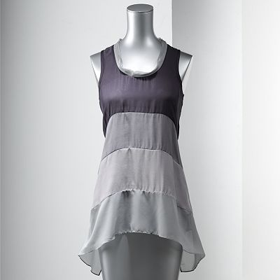 This is a Colorblock Chiffon Tank by Simply Vera Wang at Kohls!