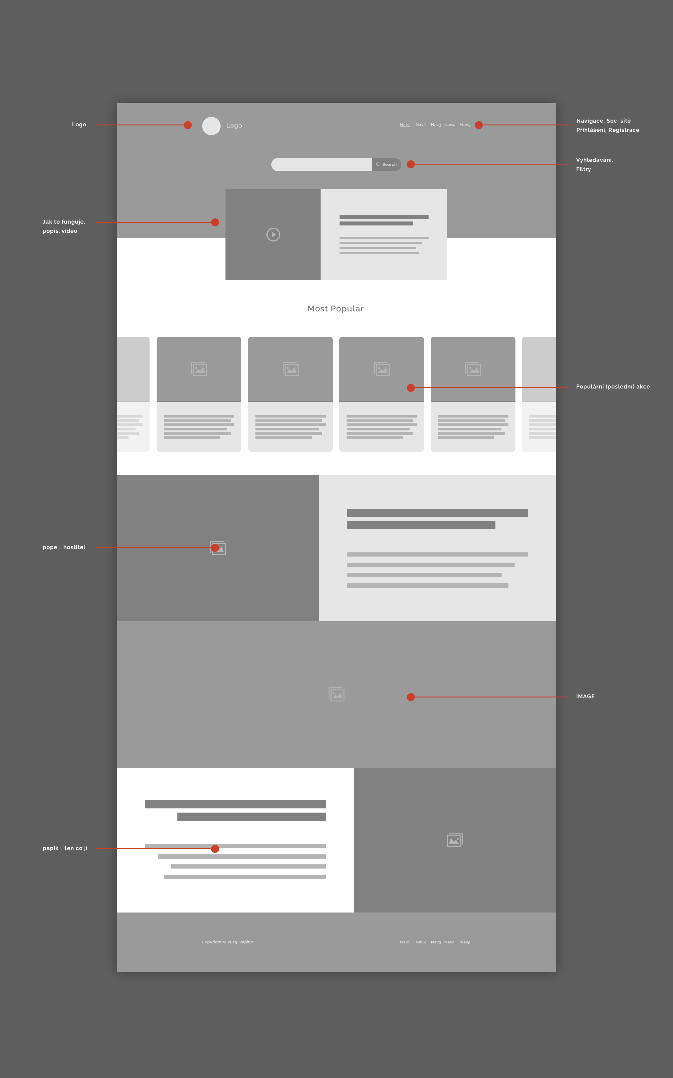 Серый дизайн / UX дизайн Startup Papino Homepage Wireframe #interfacedesign