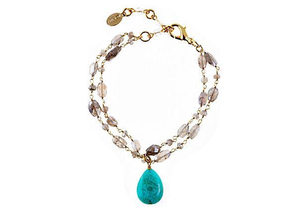 Labradorite Teardrop Bracelet on OneKingsLane.com