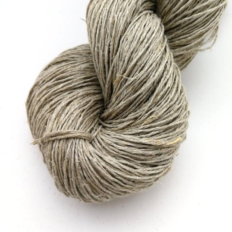 250g Undyed Hemp Yarn Sport Weight - natural, vegan, sustainable yarn - Wholesale available