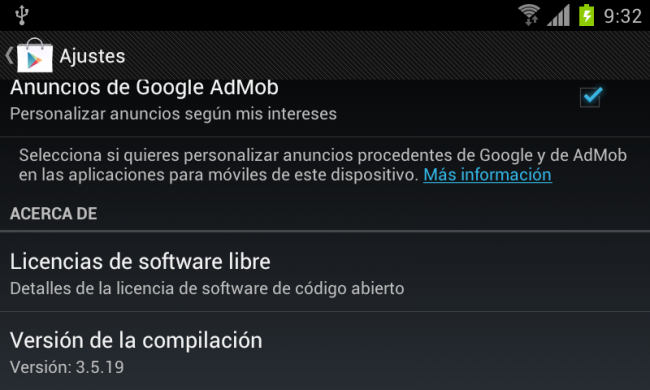 Google Play se actualiza a la versión 3.5.19 http://www.xatakandroid.com/p/84509