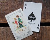 Vintage Norman Rockwell Seasons Playing Card Deck - Full Deck - Fall / Autumn