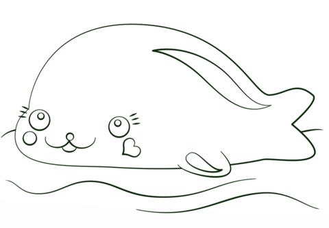 Kawaii Seal Coloring Page Free Printable Coloring Pages Printable Coloring Pages Coloring Pages