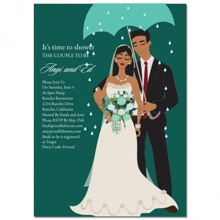 african american bridal shower invitations from soulfulmoon umbrella couple