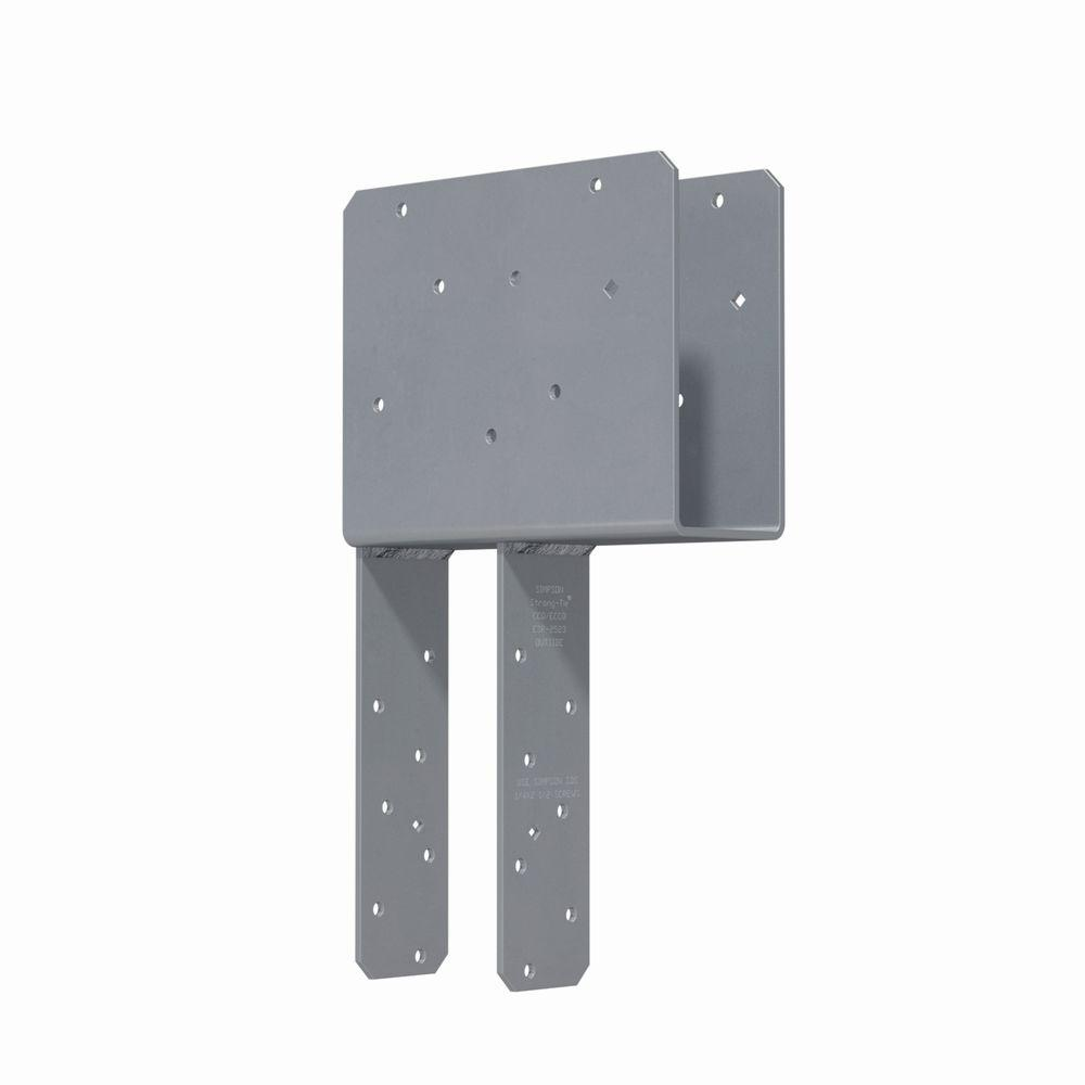 Simpson Strong Tie Eccq End Column Cap For 3 1 8 In Beam 4x Post With Strong Drive Sds Screws Eccq3 4sds2 5 Steel Columns Home Projects