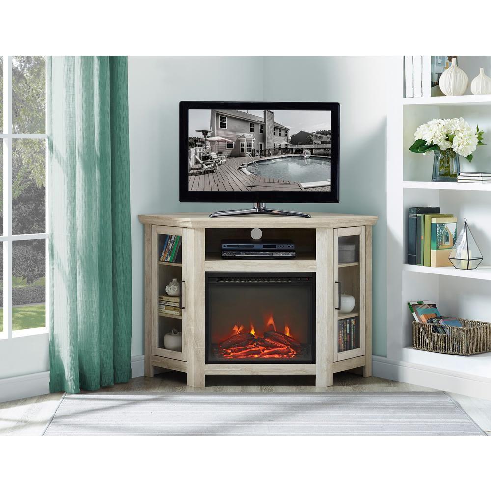 Astonishing Walker Edison Furniture Company 48 In White Oak Wood Corner Interior Design Ideas Philsoteloinfo