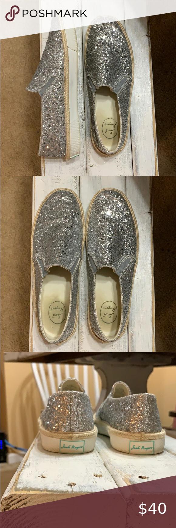 Size 8.5 Jack Rogers Glitter Sneakers