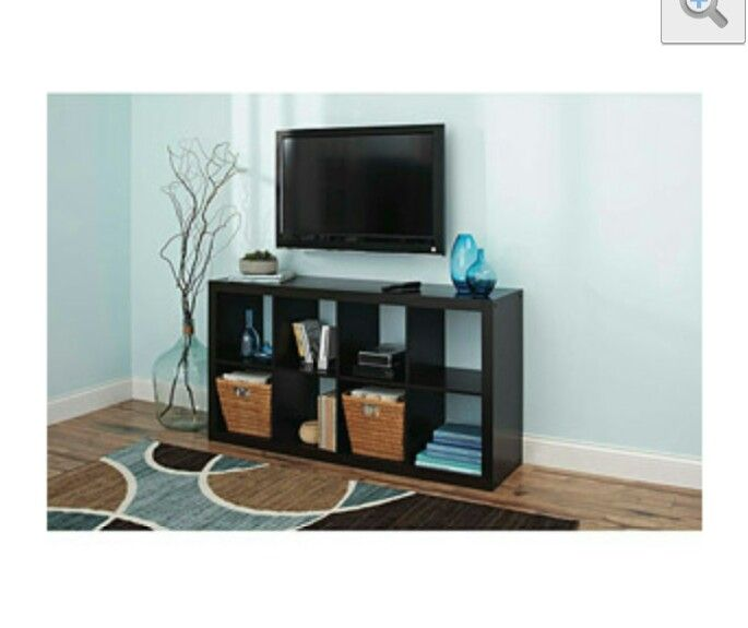 Use Shelf Turned On Side As Entertainment Center Cube Organizer Cube Storage 8 Cube Organizer