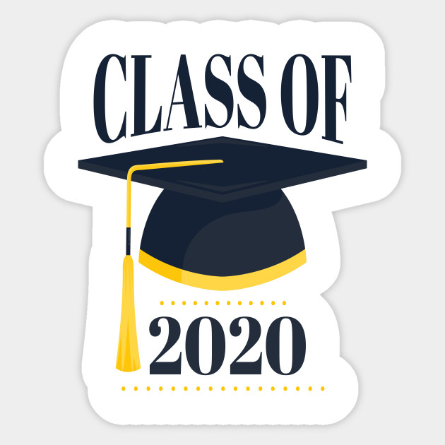 Graduating Hat 2020 - 2020 Graduates - Sticker | TeePublic in 2020 |  Graduation printables, Graduation images, Graduation design