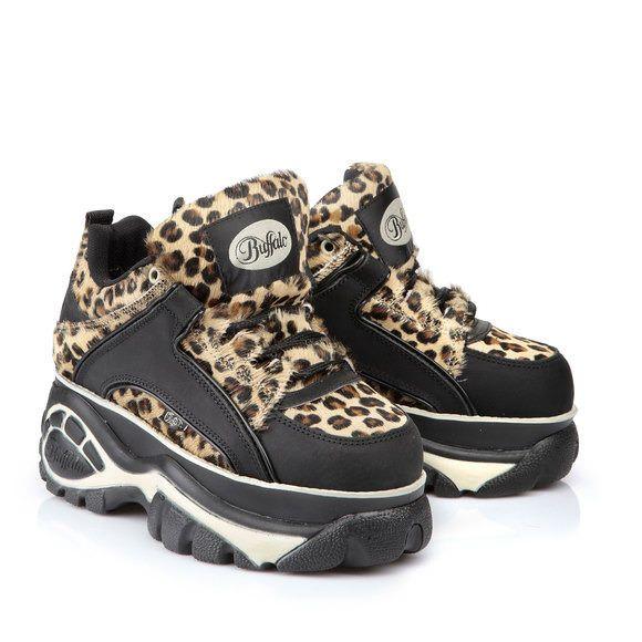 separation shoes 7f3dd eb1e6 BUFFALO Buffalo Plateau Klassiker in Leo-/Felloptik | Shoes ...