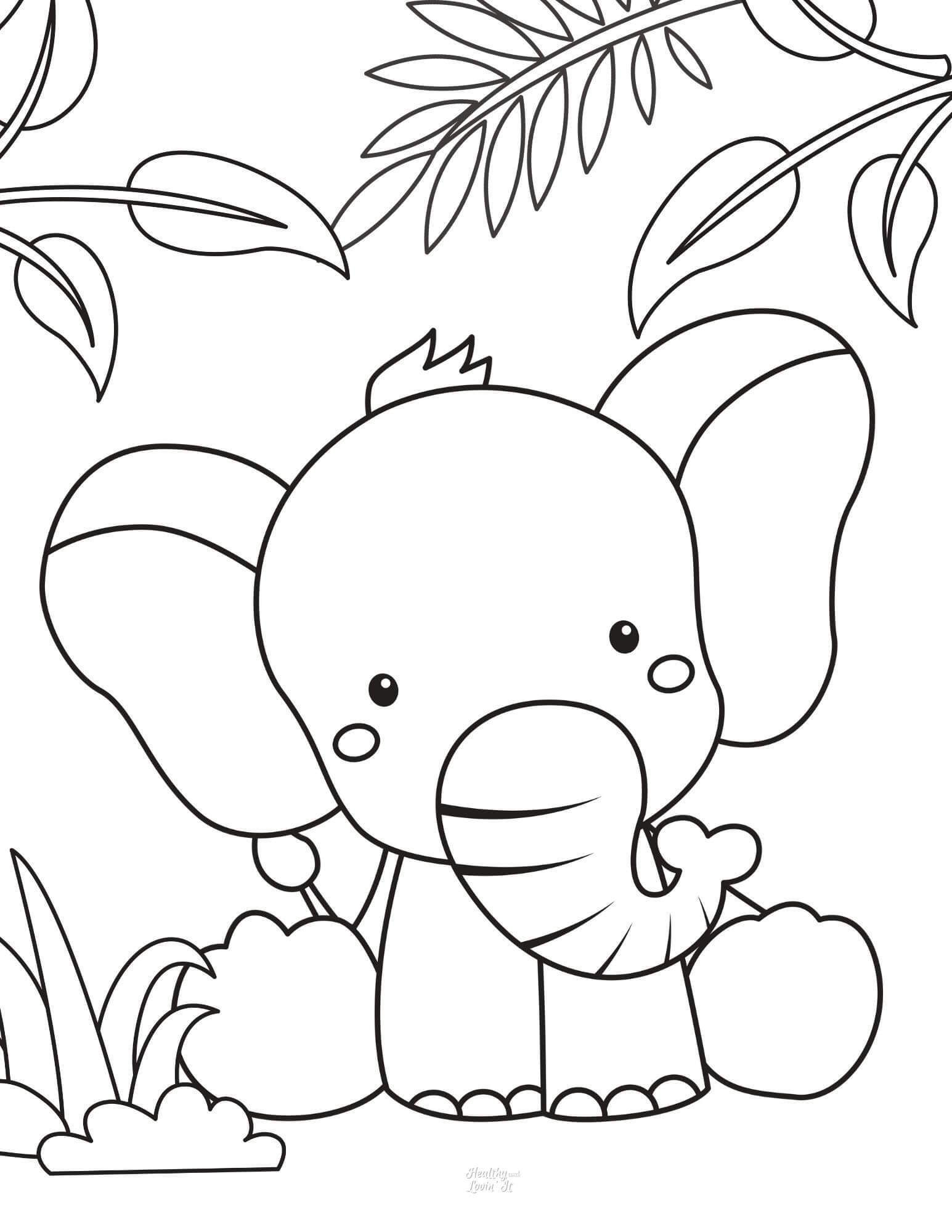 Free Printable Elephant Coloring Pages Easy Elephant Pictures To Color Elephant Coloring Page Unicorn Coloring Pages Coloring Pages