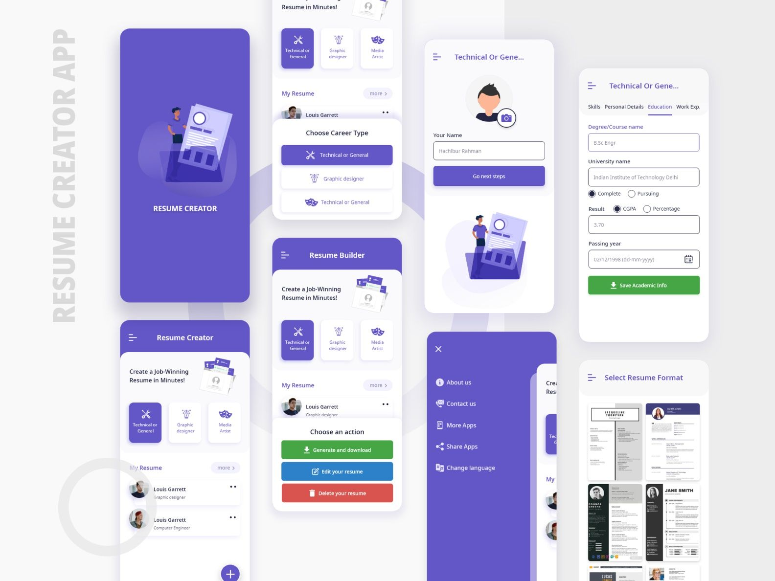 Resume creator app 2 Resume creator, App, Resume