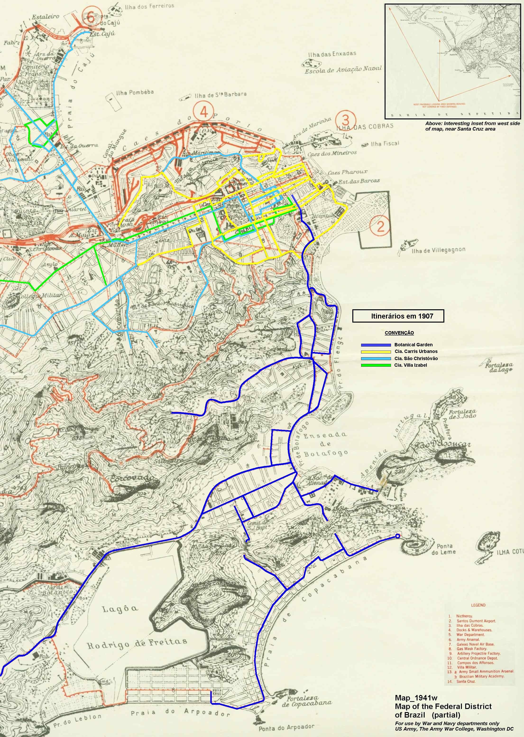 Mapa De Transporte Bonde Trilhos Rio De Janeiro Rio De Janeiro