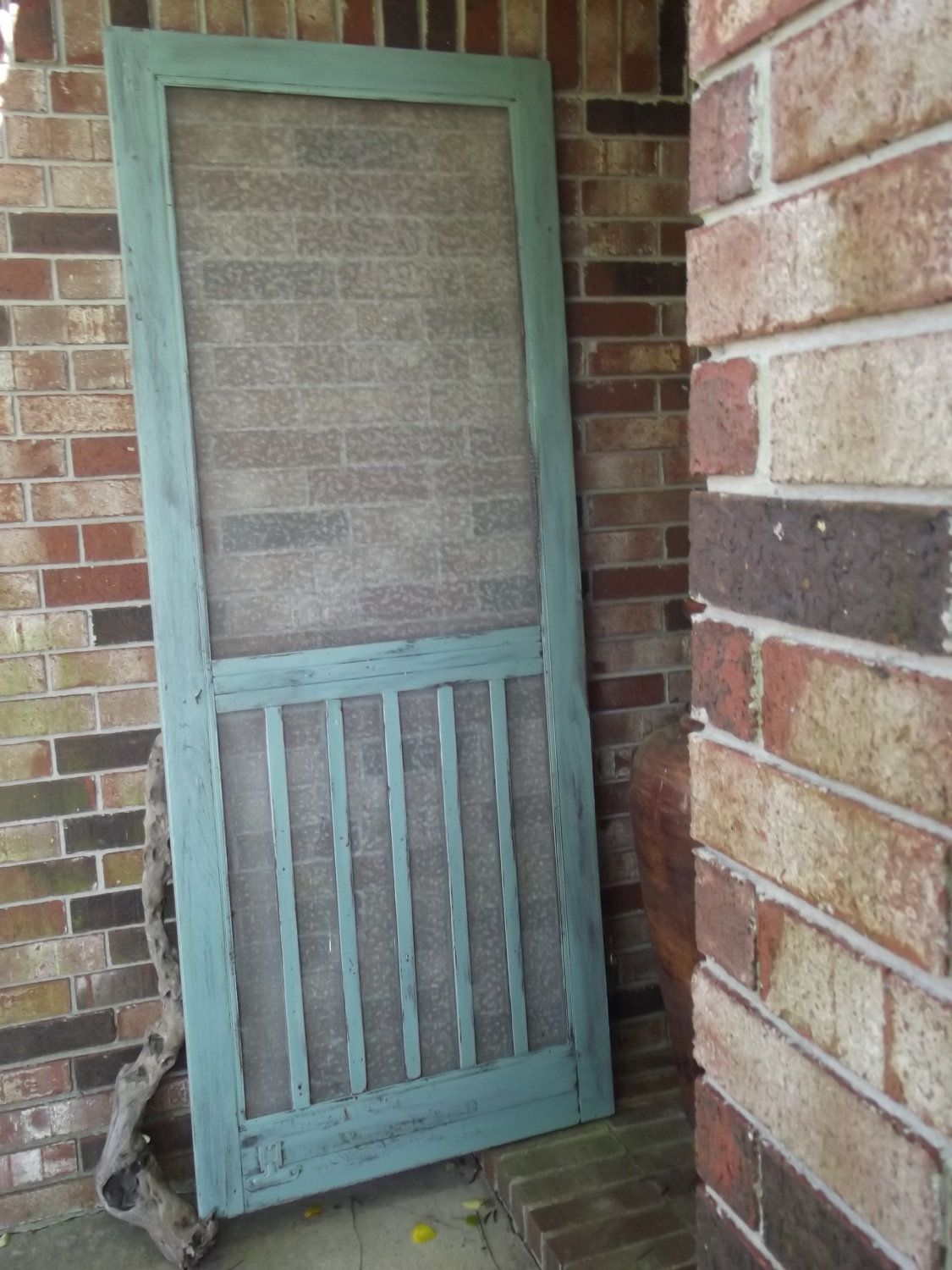 Shabby chic vintage farm house screen door several for Farm door ideas
