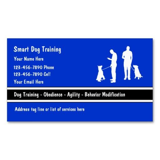 Dog trainer business cards business cards and business dog trainer business cards colourmoves