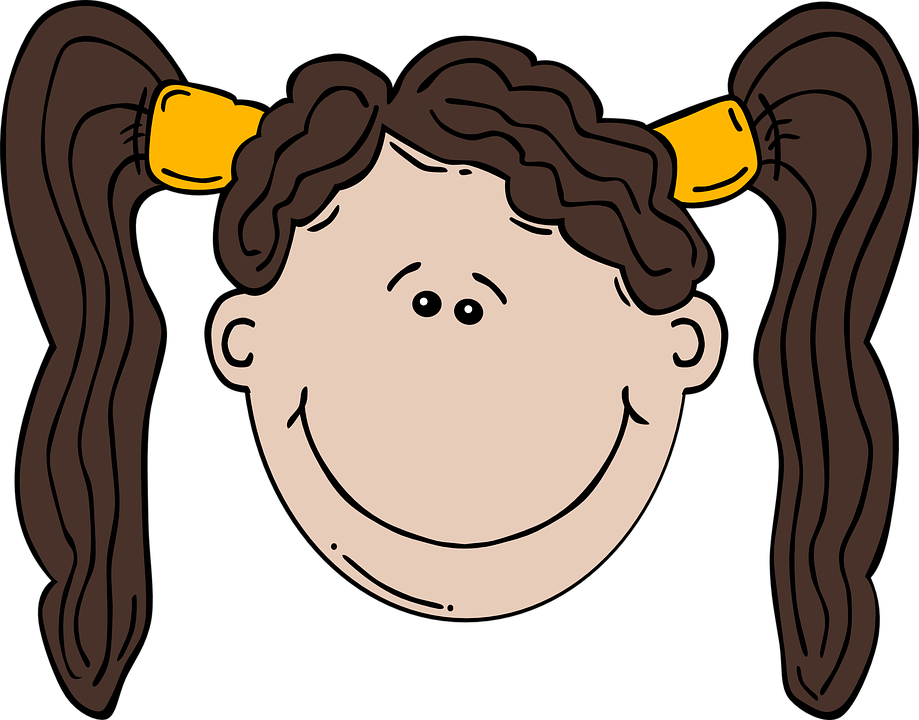 Free Image on Pixabay Ponytails, Girl, Face, Smiling