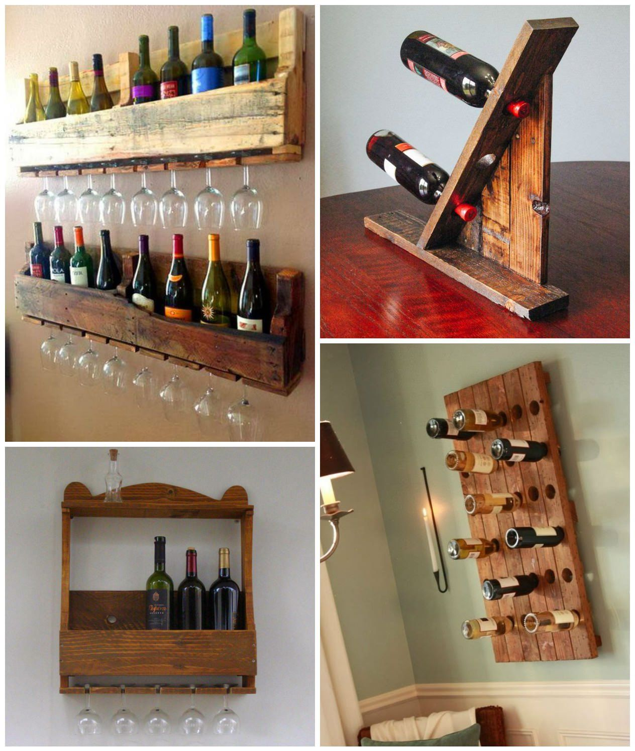 Wine Holder Ideas Wine Racks Made From Recycled Pallet Wood Wood Wine