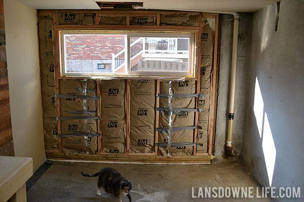 Replacing An Old Garage Door With A Wall   Lansdowne Life