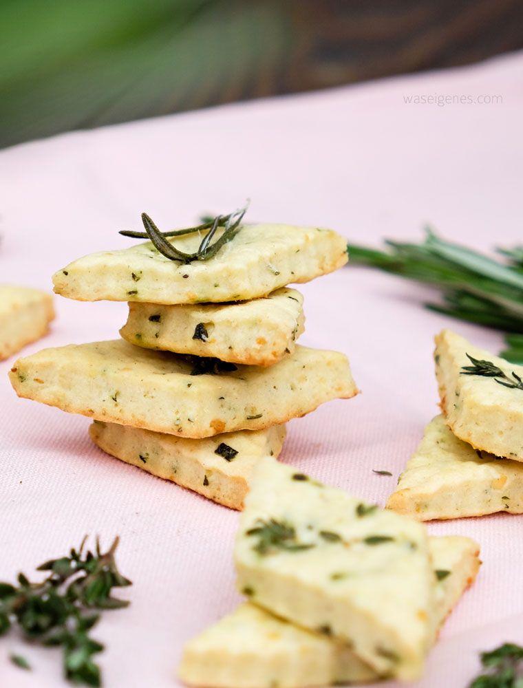 Geschenke aus der Küche Parmesan Kräuter Cracker Crackers - kleine geschenke aus der küche