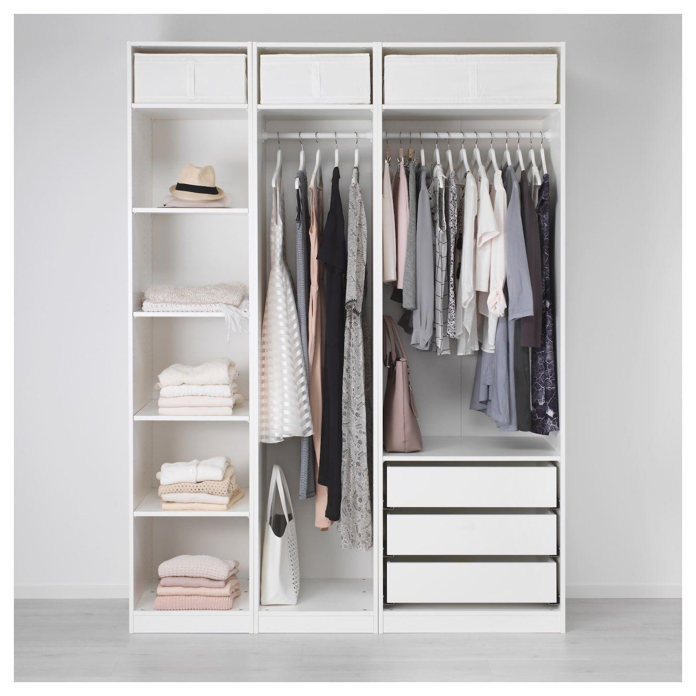 Pax Wardrobe White 68 7 8x22 7 8x93 1 8 Bedroom Cupboards