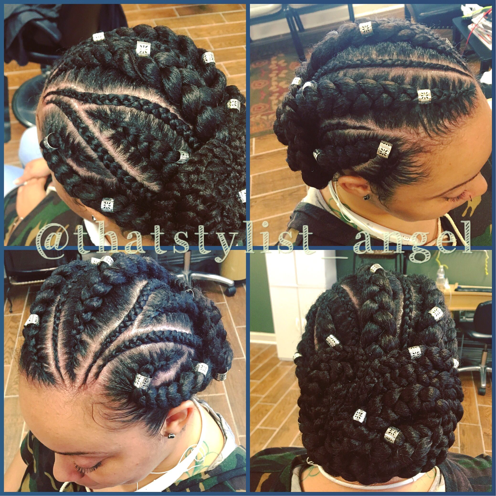 Bun Cornrows Goddess Braids Feed In Braids Fly Naturally