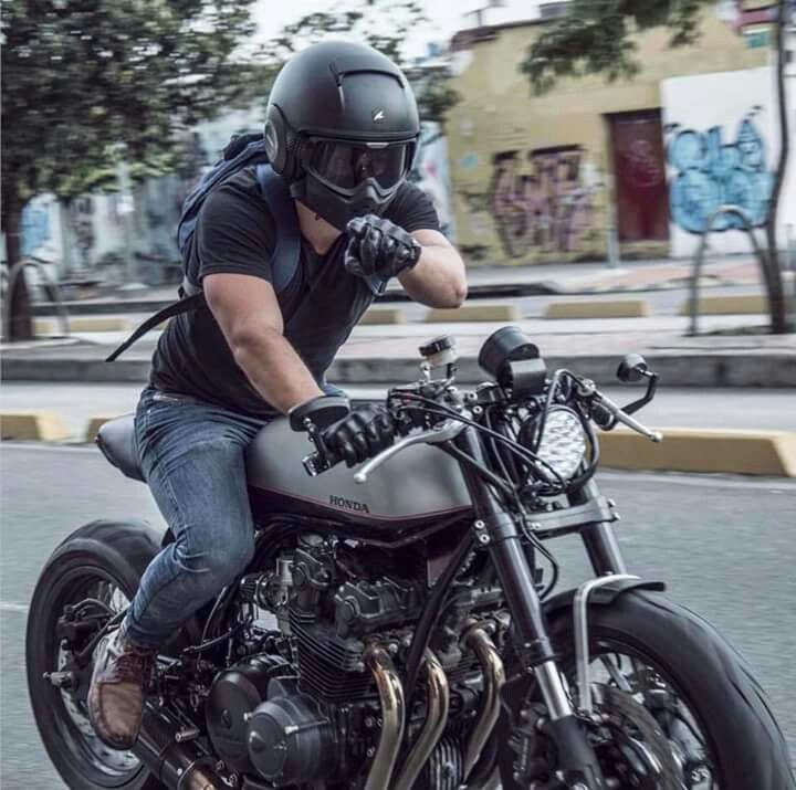 Motorcycle Fashion Riding Bikes Cb Cafe Racer Racers Black Custom Life Biker Style Biking