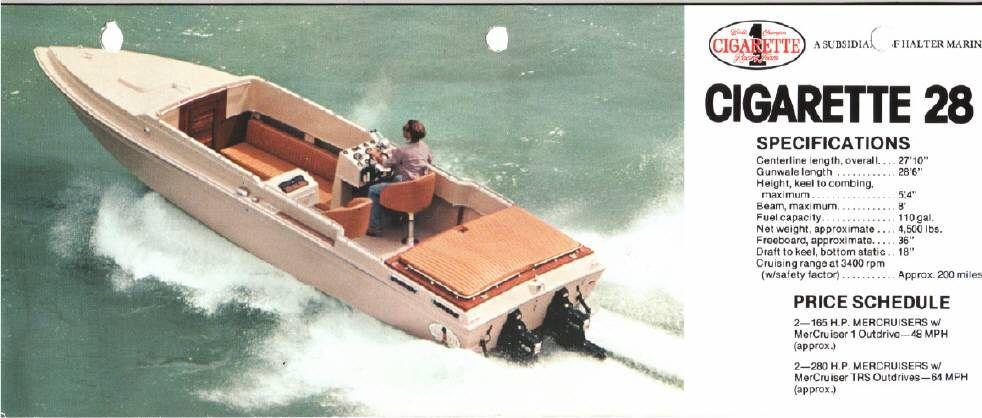 1979 Cigarette 28 Open Configuration For Sale Goboats