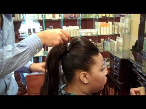 My boss, Roy Naccour, showing viewers at home how to make a drab pony into a sleek and sexy style :)