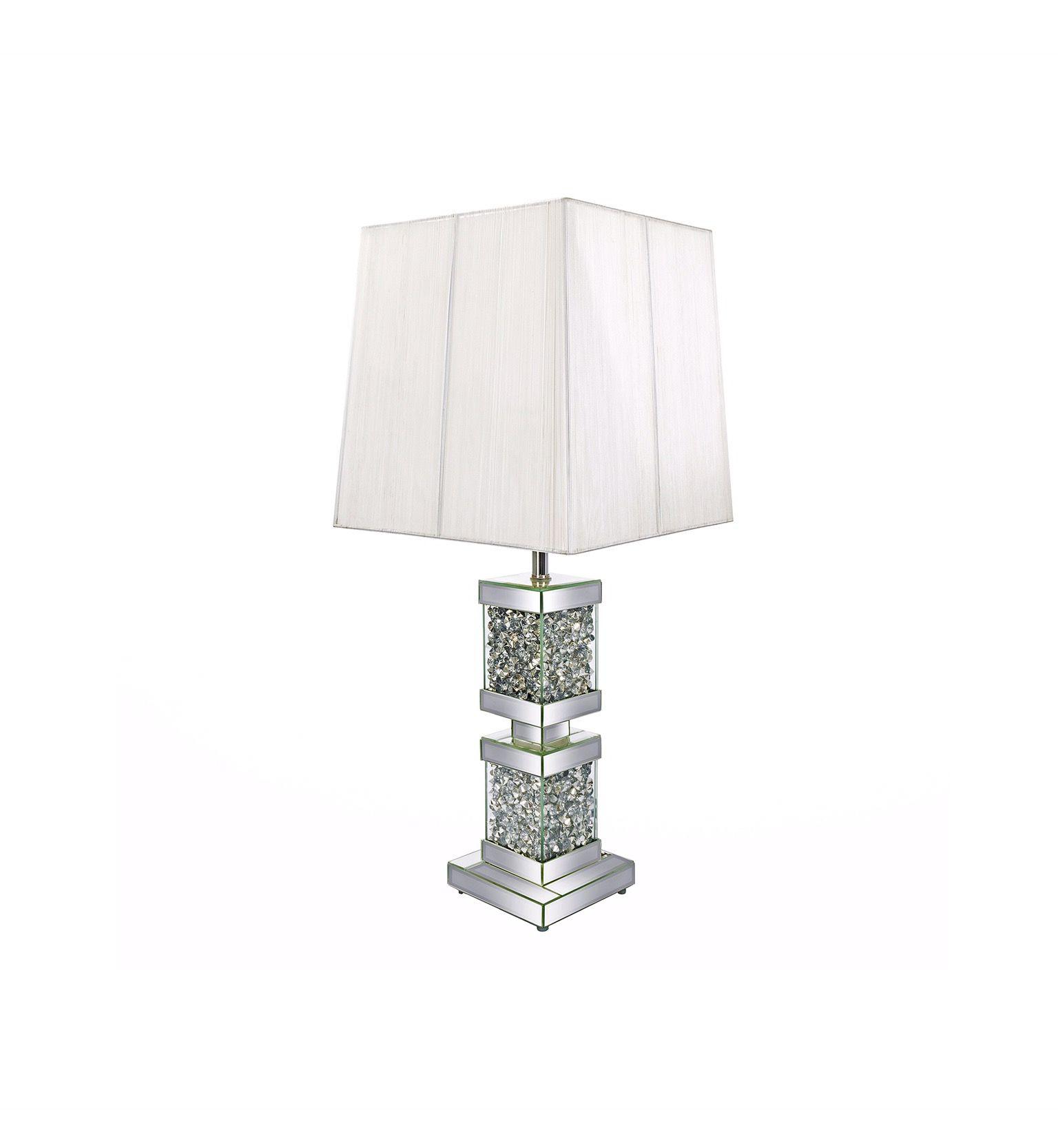 Diamond Crushed Mirror Tower Table Lamp Table lamp, Lamp