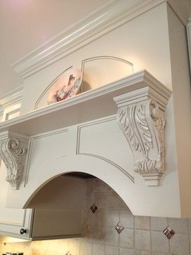 Stanisci Design M Style Wood Range Hood With Acanthus Corbels And A Rainbow Arch Kitchen Doen By Lianceland Bath