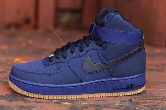 Nike Air Force 1 Bâtons Lumineux Bleu Salut De Hyperfuse