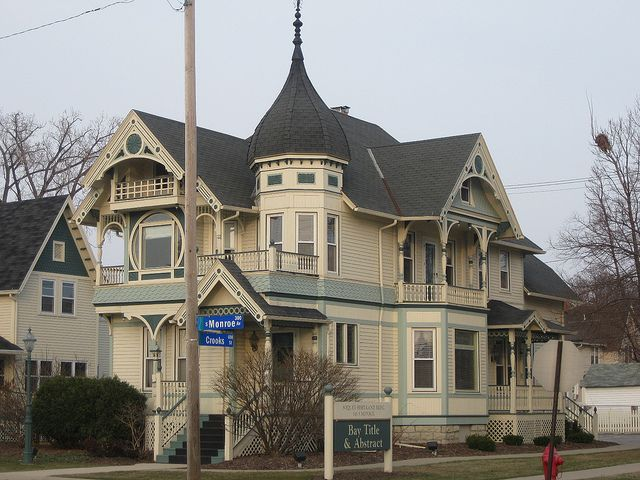 Corner of crooks and monroe downtown green bay wi originally built in known as the raphael soquet hourse architect george barber  mail order also title abstract victorian  victorianishy houses rh pinterest