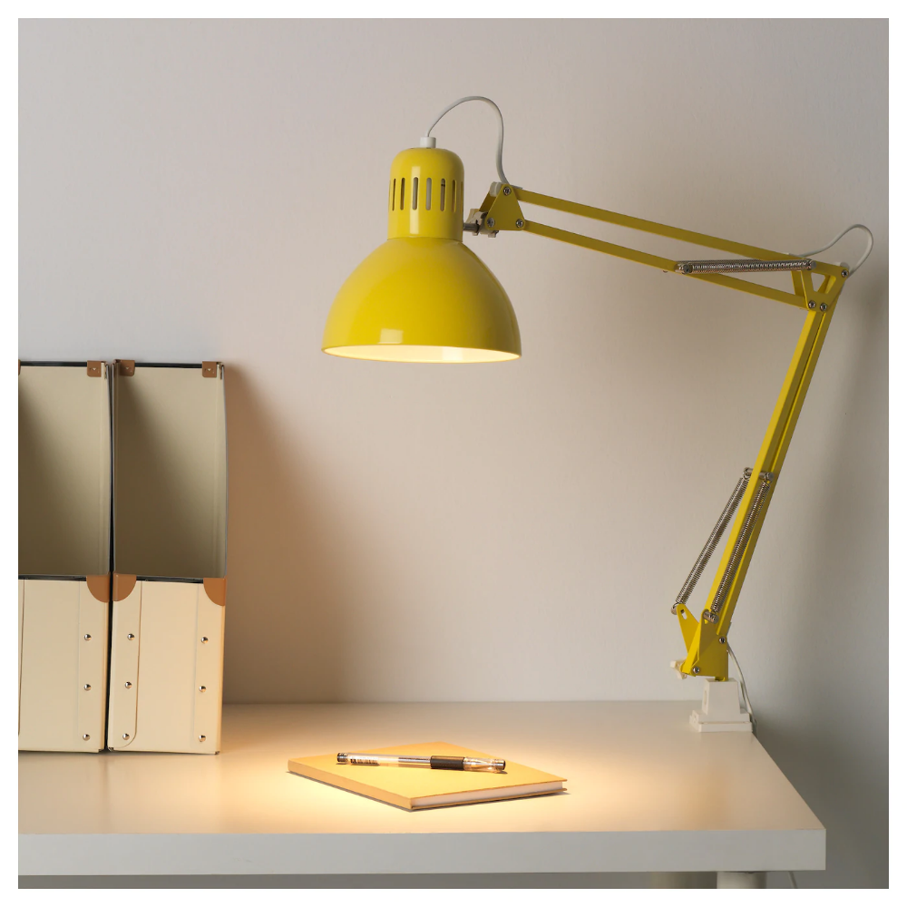 Tertial Work Lamp With Led Bulb Yellow Ikea Lamp Work Lamp Led Bulb
