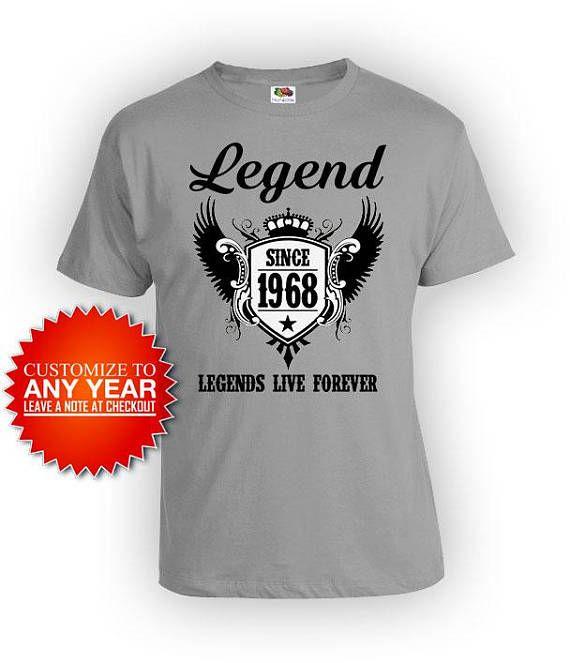 50th Birthday Gift Ideas For Him T Shirt Bday Present Her Custom TShirt Lege