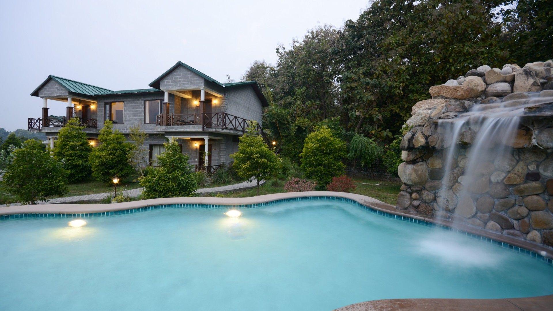Pool side villa #corbett