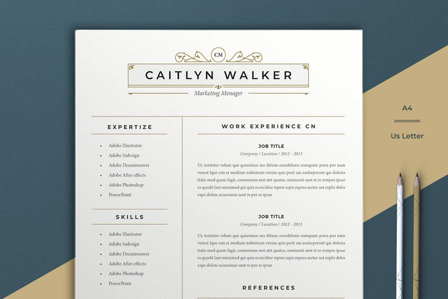 Resume Template Caytlyn in 2020 Resume template