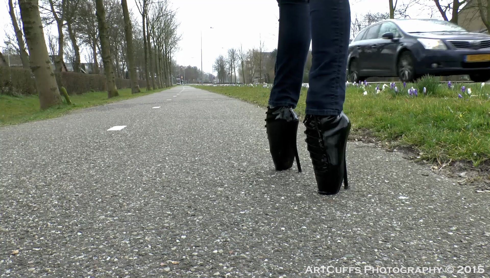 Women Walking In Ballet Heels