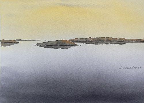 Midnight - watercolour by S O Silversten