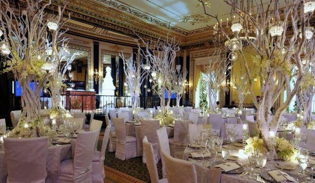 Зимний свадебный декор помещения (20 фото)   Свадебные ...  Тематические Свадьбы Зимой