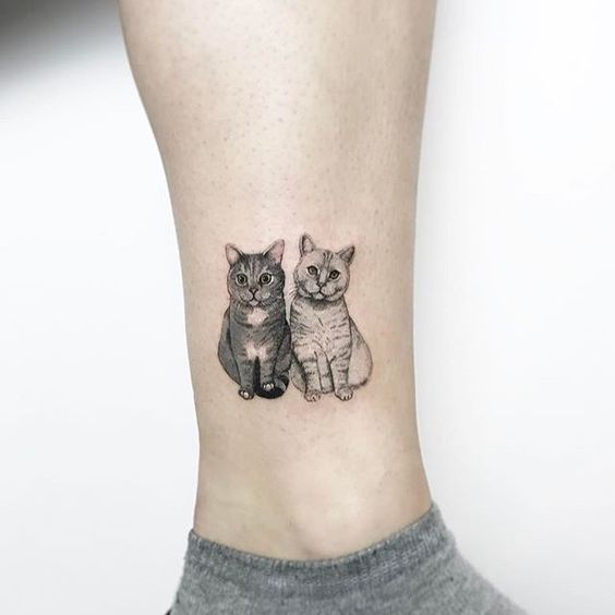 5f5fabbc9 Cat Tattoo Ideas are a very sort of tattoo inspirations as girls love cat.  Women have always found an inclination towards this domestic creature.
