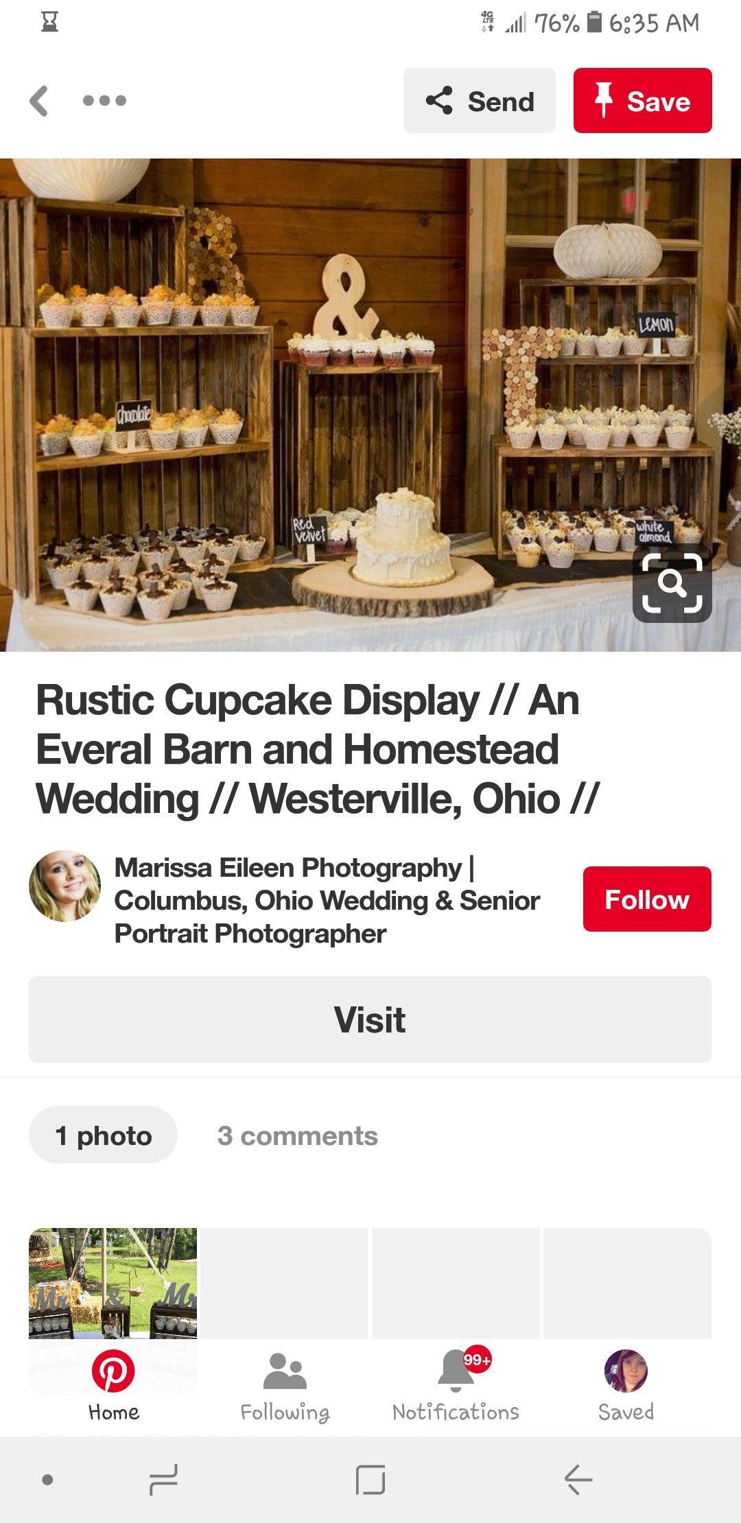Pin by Amber Kamischke on My Wedding Rustic cupcake