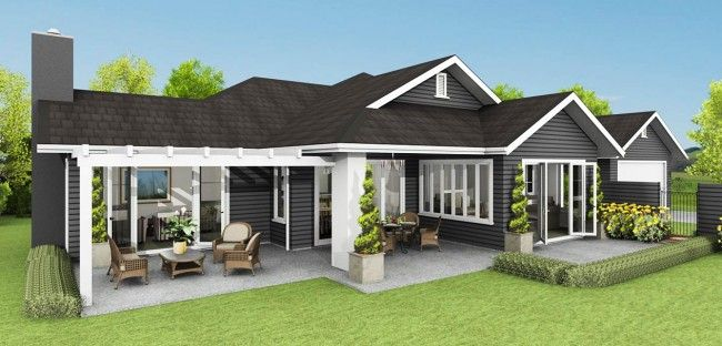 Un piso fachada 8 terreno house design house plans y for Casa moderna hampton hickory