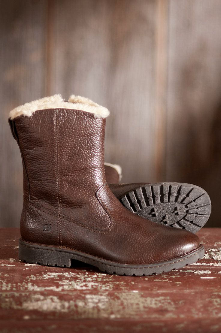 Men S Born Theodore Shearling Lined Leather Boots Style