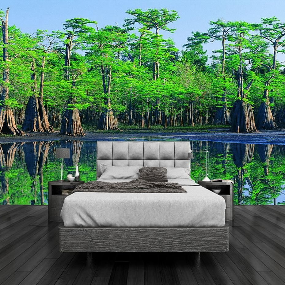 Custom 3D Effect Forest Landscape Wallpaper Mural