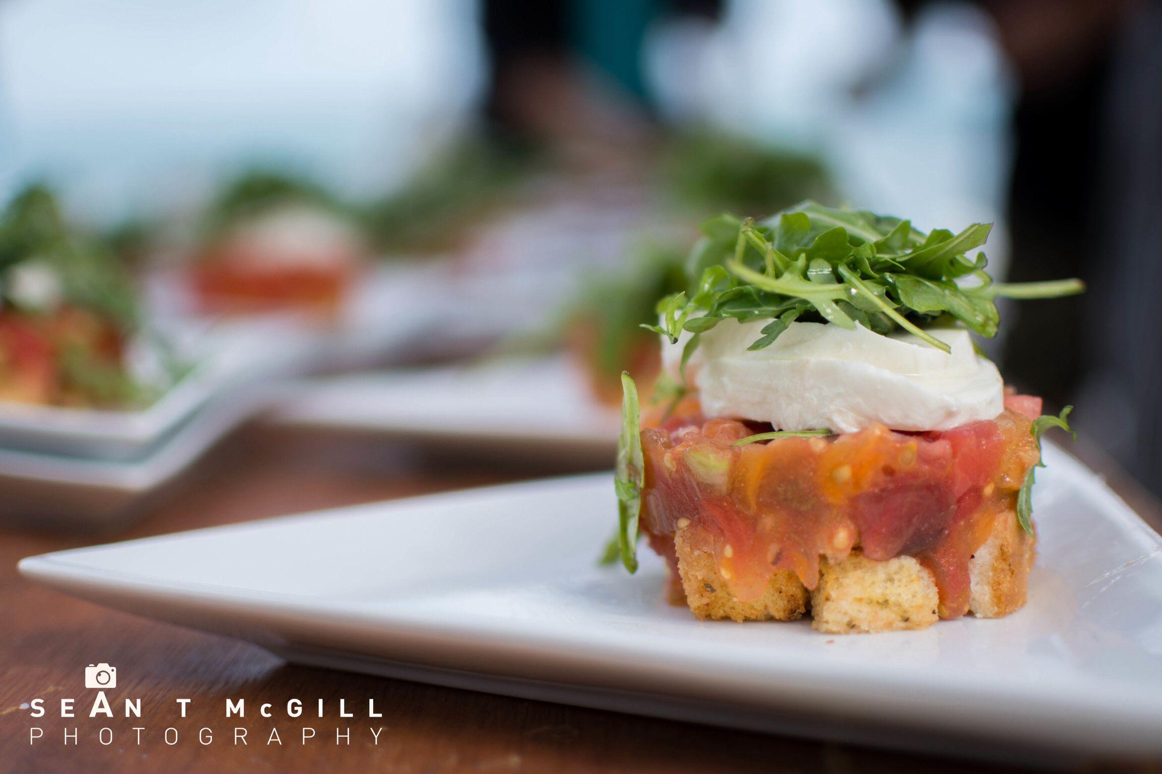 Buffalo Mozz panzanella salad