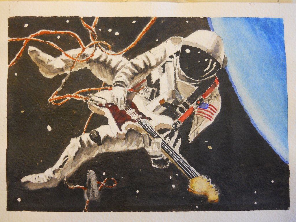 Astronaut Guitarist Psychedelic Space Psychedelic Rock Space Rock