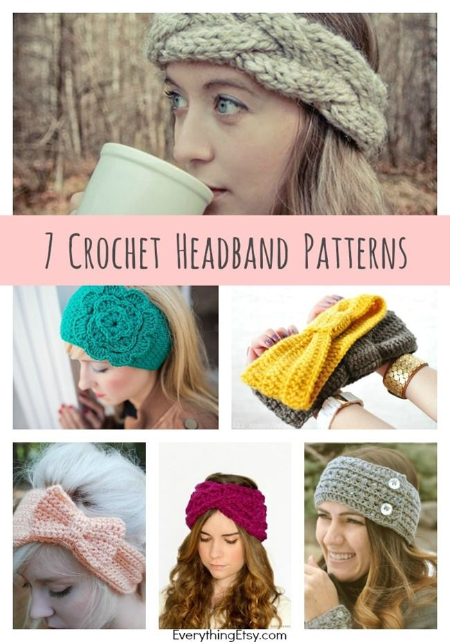 DIY Crochet Headband Patterns { 7 Free Designs | Mütze, Häkeln und ...