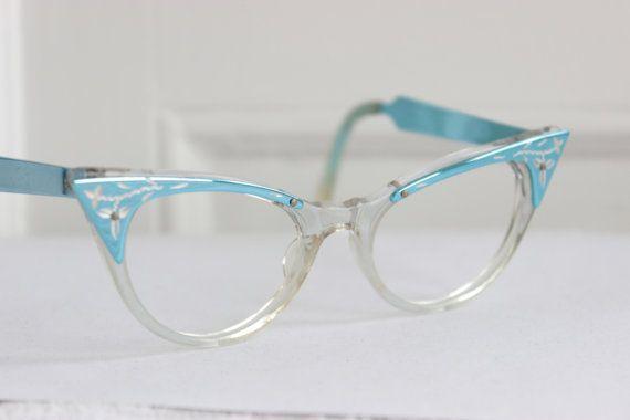Vintage 50s Cat Eye Glasses 1960s Womens Eyeglasses By Diaeyewear Cat Eye Glasses Eyeglasses For Women Funky Glasses