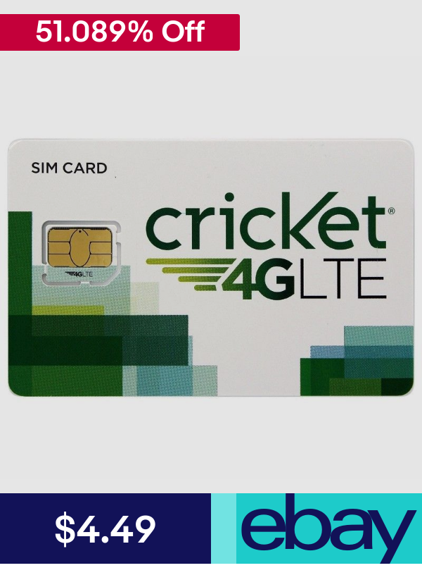 Cricket Sim Cards Ebay Cell Phones Accessories Sim Cards Cricket Wireless Sims
